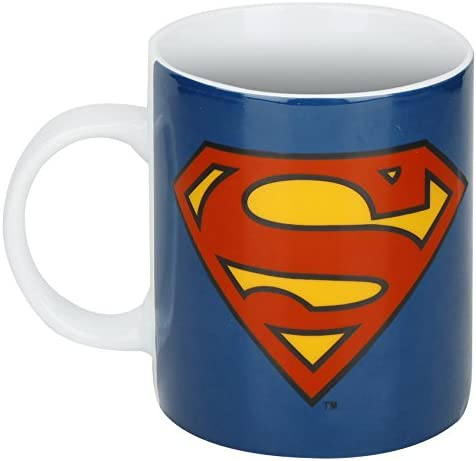 Superman Copa Logoshirt, de los tebeos de DC, Taza de café Azul con Licencia Original del diseño
