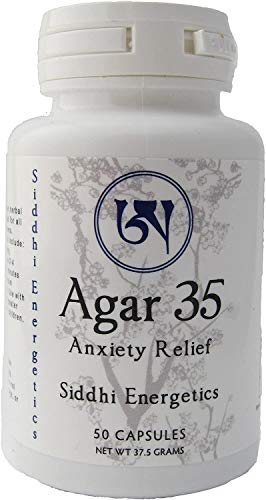 Agar 35 Natural Anti-Anxiety Supplement. Potent Tibetan Medicine Herbal Formula for Natural Anxiety and Stress Relief - Safe, No Side Effects Sleeping Supplement. Mood Enhancer for Men and Women