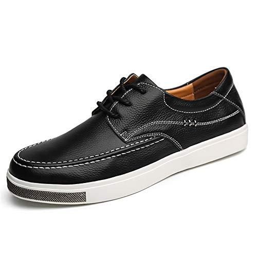Shabnbhacz Zapatillas de skate para hombre para hombre, estilo informal, con cordones, para correr, sin fingir, suela de goma antideslizante, color negro, talla 40 EU)