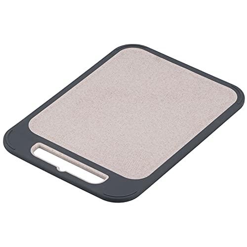 Sdfafrreg Tabla De Cortar, Tabla De Cortar Multifuncional Paja De Trigo Antideslizante De Acero Inoxidable para Cocina para Restaurante para Picnic