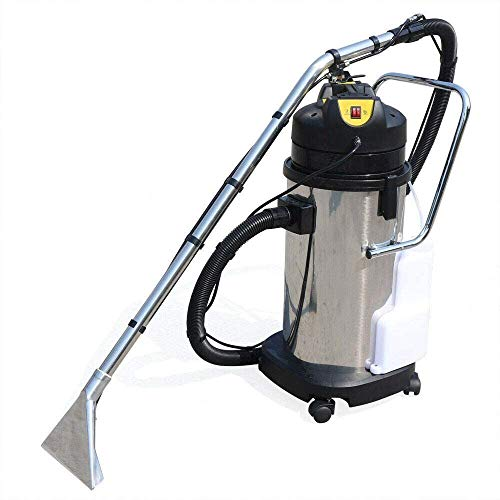 Aohuada 40L Stainless Steel Portable Carpet Cleaning Machine, Vacuum Extractor Dust Cleaner Collector