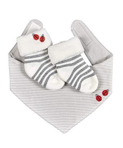 FALKE Baby Socken Ladybug Set - 89% Baumwolle, 1 Paar, Weiß (Off-White 2040), Größe: 62-68