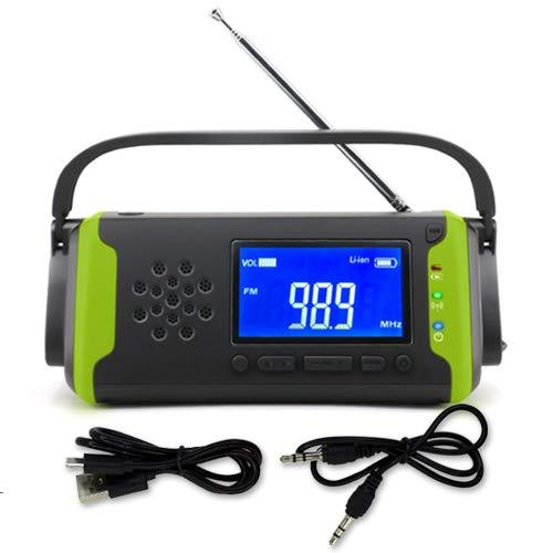◆1年保証付◆ 多機能ラジオ 防災ラジオ 防災 LEDライト スマホ充電 ソーラー充電 コンパクト ポータブル 手回し オレンジ (グリーン)
