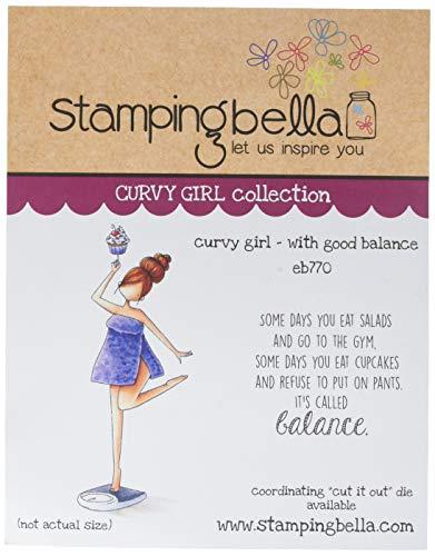 Stamping Bella Frischhalte-Stempel, kurviges Mädchen mit guter Balance