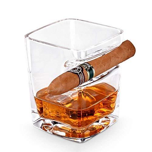 Suytan Soporte para Cenizas Soporte para Cigarrillos Siet Soporte para Cigarros Copa de Whi para Cigarros, Cenicero de Cigarros de Cristal Europeo Soporte para Ceniceros de Cigarros, Vaso de Whi Anti