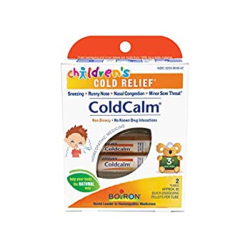Boiron Children s Coldcalm 2 Count  80 Pellets per Pack  Homeopathic Medicine for Cold Relief