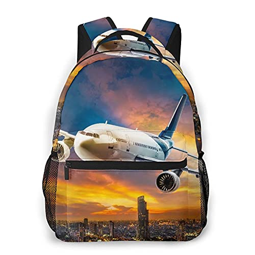 Moda zaino casual The Plane Takes Off At Dusk Adult College Shoulder Travel Bag for girls