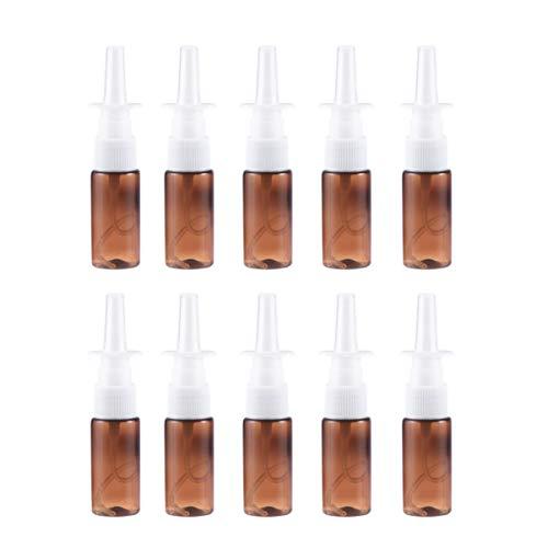 Artibetter 10 Pcs Plastique Ambré Vide Pompe Nasale Pulvérisateurs Bouteille Snoot Nettoyant Récipient pour Applications Salines Médicales Distribution Lavage
