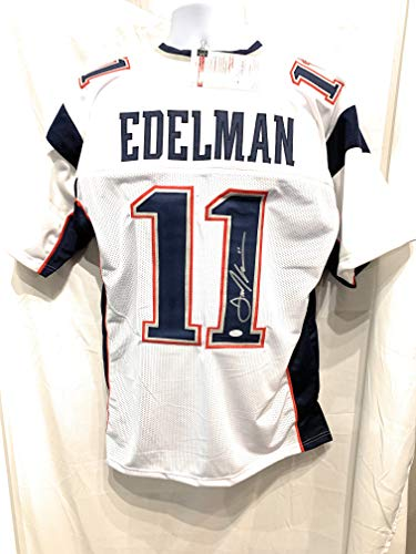 Julian Edelman New England Patriots Signed Autograph Custom White Jersey JSA Witnessed Certified