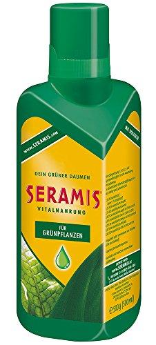 Seramis Flüssiger Pflanzendünger mit Dosierhilfe für alle Grünpflanzen, Vitalnahrung, 500 ml, Grün