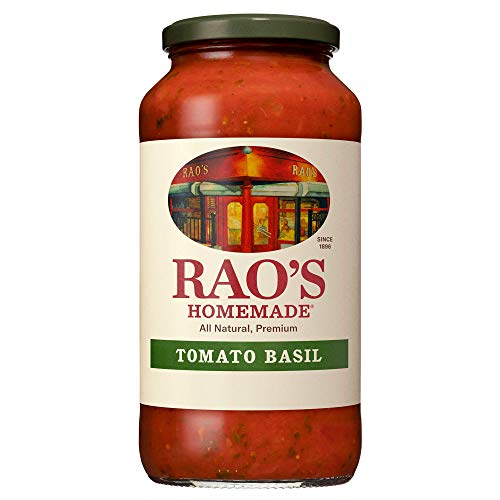 Rao's Homemade Tomato Sauce, Tomato Basil, 24 oz, Versatile Pasta Sauce, Carb Conscious, Keto Friendly, All Natural, Premium Quality, Made with Slow-Simmered Italian Tomatoes & Basil