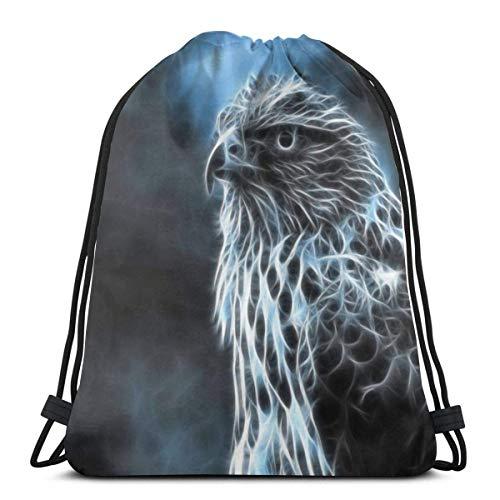 Bingyingne Animal Falcon coulisse zaino palestra sacco Cinch borsa stringa borsa