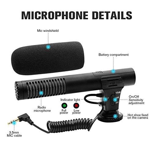JSX Professionele camera-opname-microfoon 3,5 Mm audiostekker voor camera DSLR digitale video computer-camcorder VLOG microfoon