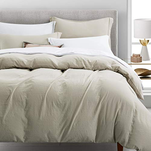 Newspin Bedding Duvet Cover Set Ultra Soft Double Brushed Microfiber 100% Washed Lightweight Comforter Cover with Hidden Zipper Closure - 2 Piece Twin Duvet Cover, Moon Beam