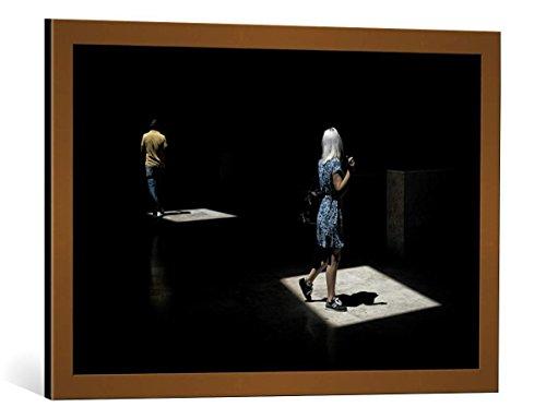 kunst für alle Quadro con Cornice: K|K - Carlos Costa This Way - Stampa Artistica Decorativa, Cornice di Alta qualità, 75x50 cm, Rame Spazzolato