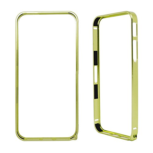 Bumper Protector de Aluminio para iPhone 5 / 5S / SE, Carcasa para Proteger Laterales en Color Verde