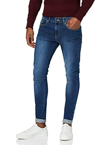 Enzo Men's Ez326 Skinny Jeans, Blue (Midwash), 32W 30L UK