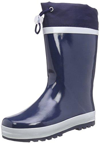 Playshoes Kinder Gummistiefel aus Naturkautschuk, warme Unisex Regenstiefel mit Innenfutter, Blau (marine 11), 24/25 EU