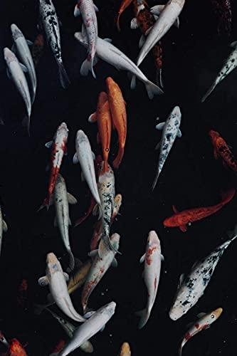 Animal carpas Coloridas Rompecabezas para Adultos 1000 Pieza,Madera Rompecabezas de la Familia de que el Juego de la Colección de Juego Educativo de Arte para la Pared del Dormitorio de la Decoración