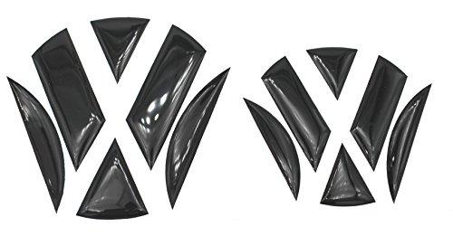 Finest-Folia 3D Emblem Gel Aufkleber vorne + hinten (Schwarz Glanz)