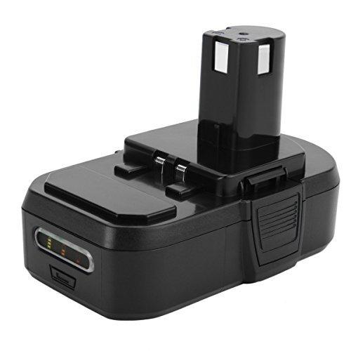 Exmate 18V 2.5Ah Batería para Ryobi One+ 18V Lithium+ RB18L15 RB18L25 RB18L40 RB18L50 P100 P101 P102 P103 P104 P105 P107 P108 P109