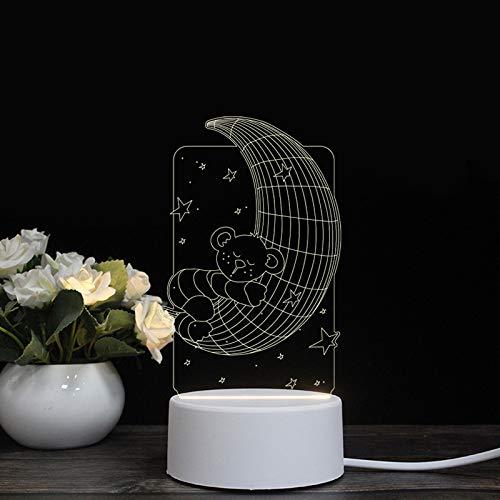 Led lampe à économie d'énergie créative modélisation cochon 3d lampe étoile lampe petite lampe de nuit USB cadeau romantique cadeau d'anniversaire lampe, tour,