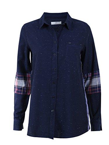 Lee Damen Freizeithemd One Pocket Shirt Neppy Twill, Größe:S, Farbe:Midnight Blue (DB)