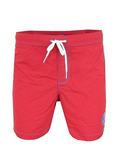 Napapijri SMU Valdo Herren Men Badeshorts Badehose Beachwear Rot Red (S)
