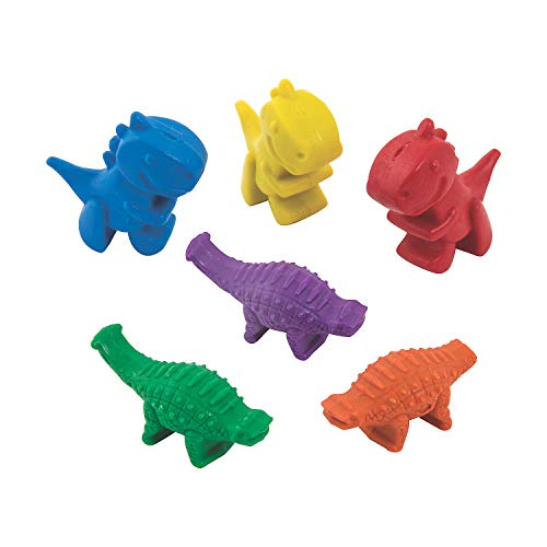 Shaped Dinosaur Crayons - 24 Pieces - Educational And Learning Activities For Kids