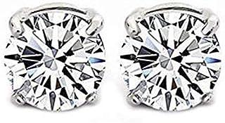 1 Par Cristal Transparente Imán Pendientes Unisex Hombres Pendientes