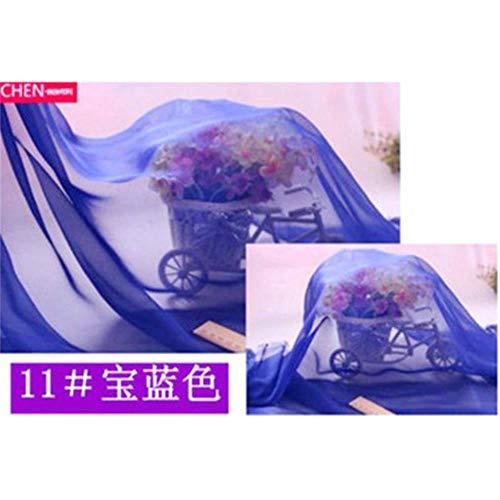 Breedte 150x1m goede chiffon stof van 100% polyester chiffon stof wit voor doe-het-zelf meisje silk jurk rock-gordijn 20 kleuren chiffon, meter, 1 meter