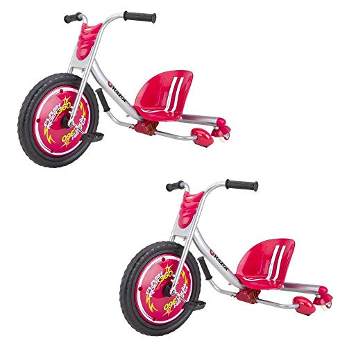 Razor Flash Rider 360 Drifting Trike Ride-On Tricycle, Red (2 Pack)