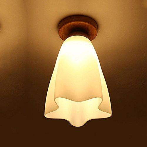 No Band creatieve bloem in de vorm van een plafond, eenvoudig, kop van massief hout, LED-plafondlamp, lamp met dubbele gebruiksdoel, voor Corridor 410