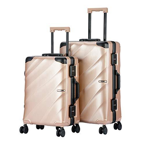 Llevar equipaje Impermeable 20in 24in Equipaje Juego de 2 piezas con TSA Lock Suitcase Spinner Hardshell Ligeros conjuntos encajados Maleta vertical para llevar 360 ° Silent Spinner Ruedas mul