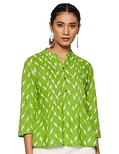 Amazon Brand – Myx Women's Cotton Regular Short Kurti