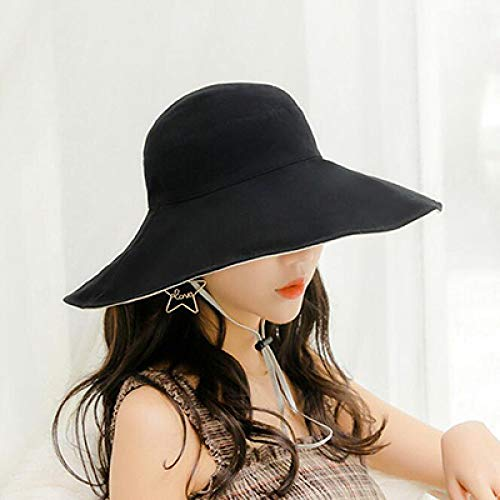 YYMMQQ Zonnehoed nieuwe emmer hoed katoen voorjaar zomer hoed voor vrouwen eenkleurige vishoed designer muts nonchalante dubbelzijdige zonwering kap