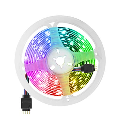ZHUSHI Tira De Luz LED 5M 5050SMD RGB Tira De Luz De Fondo De Cinta LED Cortable De 4 Pines, Utilizada para La Retroiluminación De TV De La Sala De Estar