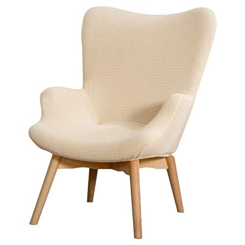 papasgix Sesselschoner Überzug Sesselbezug Stuhlhussen Sessel-Überwürfe onhe Armlehnen Stretch Sesselhusse für Cafe Wohnzimmer Sessel(Beige,18,8 Zoll)