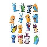 EASTVAPS Lot de 16 Slug Elf Slugterra Figurine Poupée Jouets Décoration De Gâteau Cadeau Enfants