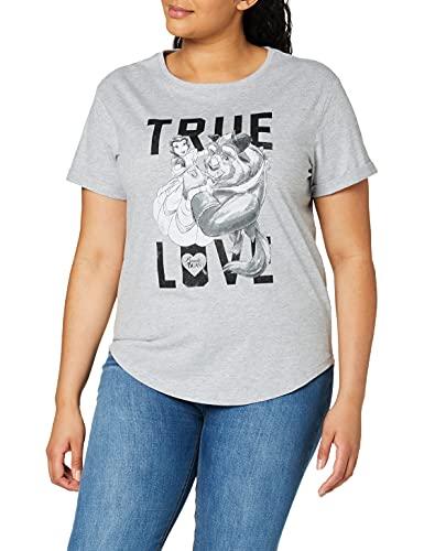 Disney True Love T-Shirt, Gris (Sport Grey), M Femme