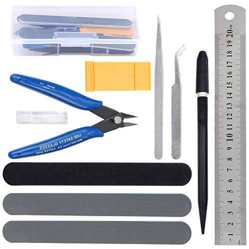 WiMas Kit de herramientas de modelo Gundam, herramientas básicas de modelador, juego de manualidades para construcción de modelos básicos de reparación y fijación