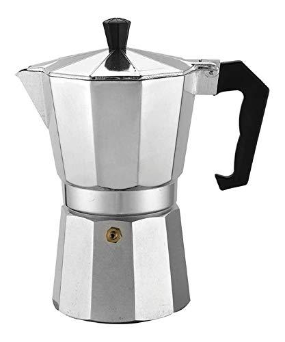 Cafeteira de Fogão Moka Italiana Expresso Aluminio até 6 Xícaras