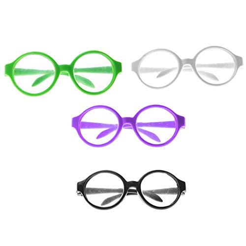 Gafas De Sol De Muñeca De Moda De 18 Pulgadas Gafas De Montura Redonda Gafas Ropa para Muñeca Americana Accesorio De Vestir De Muñeca 4 Piezas Color M