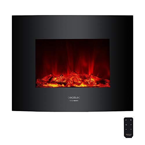 Cecotec Chimenea eléctrica Ready Warm 2600 Curved Flames. Potencia máxima 2000 W,...