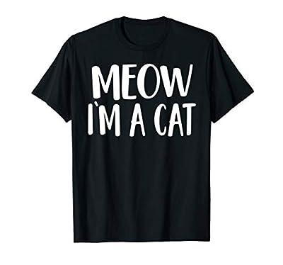 Meow I'm A Cat T-Shirt - Halloween