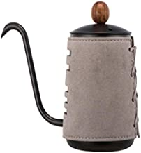 Coffee pot Style Stainless Steel Coffee pot - Handleless Long Mouth pot - With Double-Layer Microfiber Leather - Suitable for Home and Office Small stainless steel hand-made coffee appliances