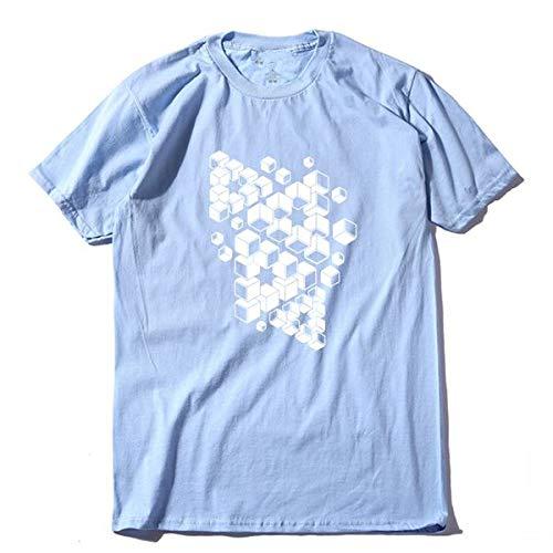 DSHRTY Top d'été,100% Coton Cool Mode Hommes t-Shirt Casual Manches Courtes Hommes t-Shirt Mode Hommes t-Shirts Hauts t-Shirt, QI0242A, QLAN, M