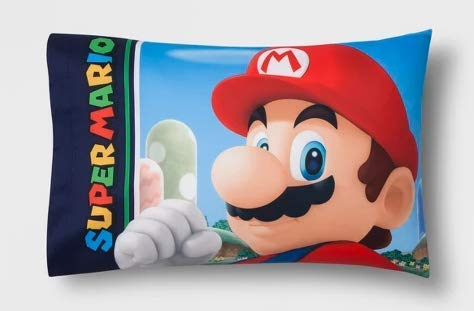 Super Mario Reversible Pillow Case