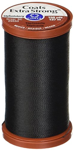 COATS & CLARK Extra Strong Upholstery Thread, 150-Yard, Black (S964-0900)