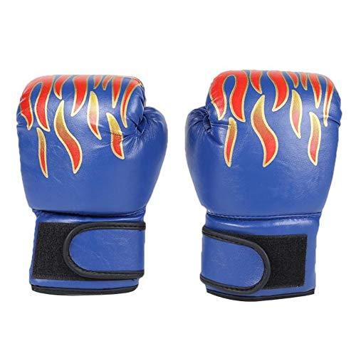 APJJ Guantes De Boxeo para Hombres Y Mujeres Guantes De Saco De Boxeo PU, Guantes De Entrenamiento De Entrenamiento, Boxeo Profesional Guantes De Kickboxing UFC MMA Muay Thai Sparring,Azul
